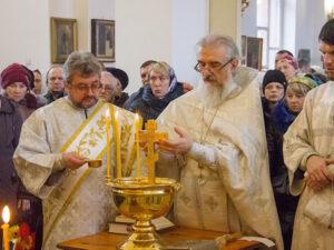Освящение воды в Казанском храме