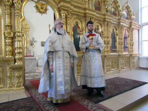 Причастие в Казанском храме