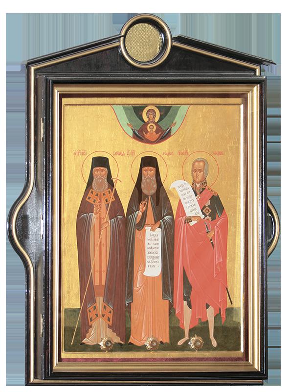 Икона с частицами мощей Санаксарских святых