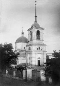 Первая церковь Казанская церковь в Саратове. В настоящее время на этом месте жилой дом— ул. Лермонтова, 42. Из фондов СОМК
